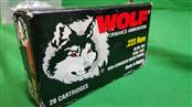 WOLF AMMO Ammunition .223 55 GR HP 20 COUNT